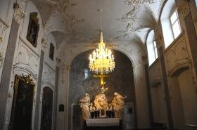 Afrescos barrocos de uma das salas