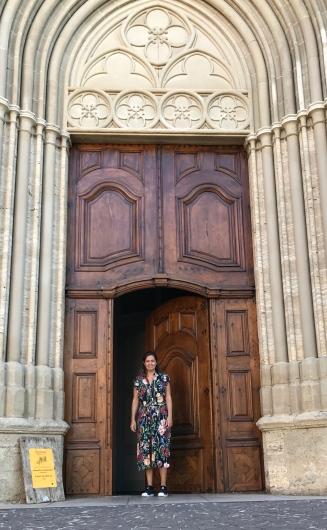 Foto feita pela minha filha na porta da Igreja